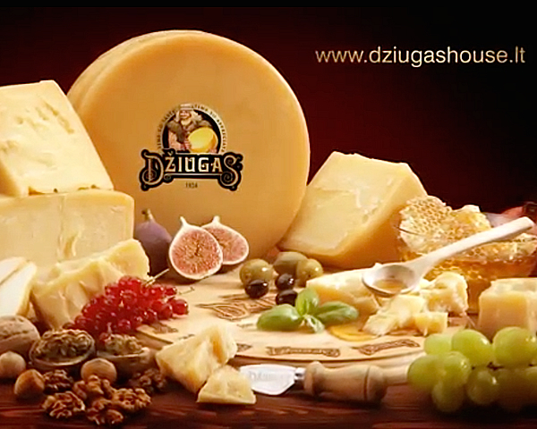 Cheese Dziugas advertising