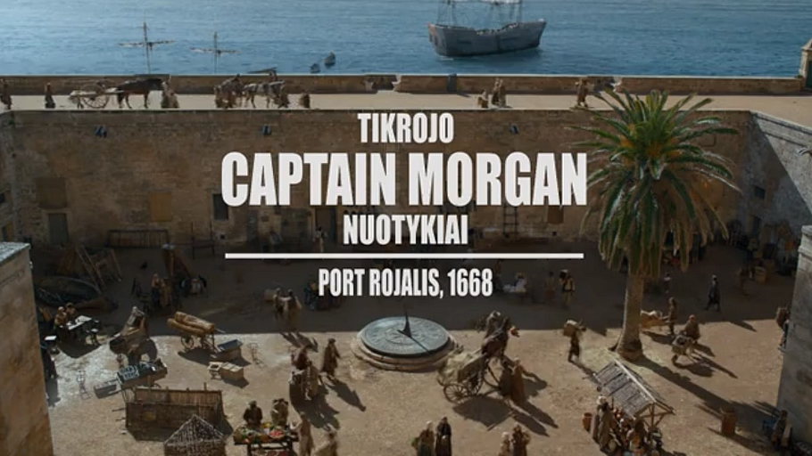 Video advertising Captain Morgan